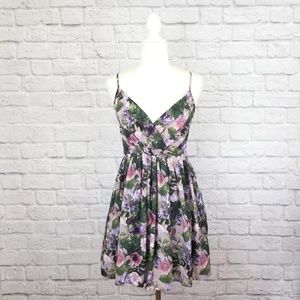 Jack BB Dakota purple floral fit and flare dress